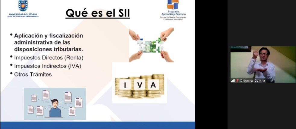 Estudiante de Contador Público y Auditor dictó taller a contribuyentes sordos